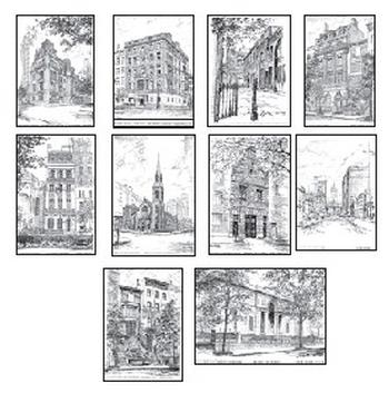 10 Note Cards of Historic Landmarks