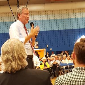 Town Hall meeting for Council District 2 with Mayor de Blasio and Council Member Rosie Mendez