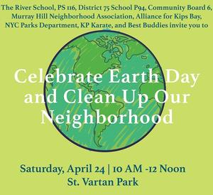 Celebrate Earth Day and Clean Up Our Neighborhood!