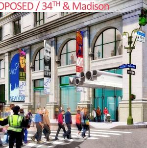 Landmarks Preservation Commission hearing on changes to the landmark B. Altman Building, July 24, 2018